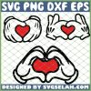 Mickey Hands Love SVG PNG DXF EPS 1