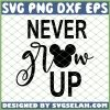 Mickey Never Grow Up SVG PNG DXF EPS 1