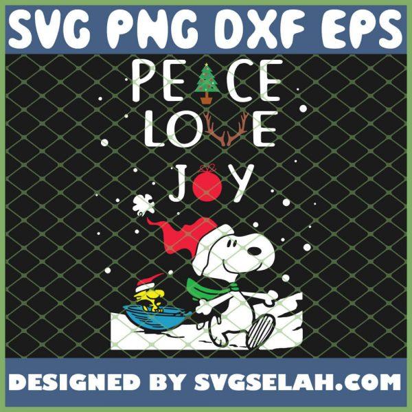 Peanuts Snoopy Peace Love Joy Christmas SVG PNG DXF EPS 1