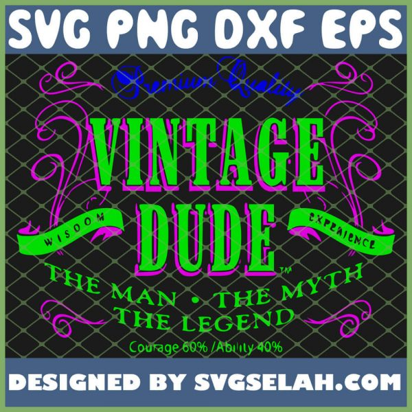 Premium Vintage Dude White Gray 1