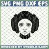 Princess Leia Hair SVG PNG DXF EPS 1
