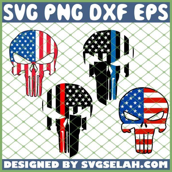 Punisher Flag SVG PNG DXF EPS 1