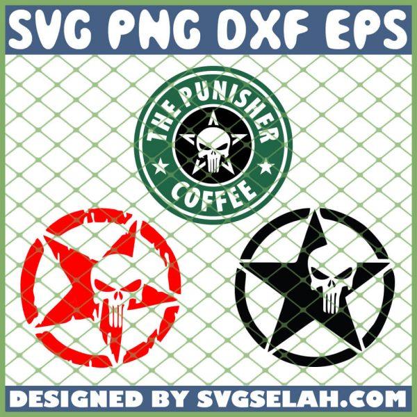 Punisher Logo SVG PNG DXF EPS 1