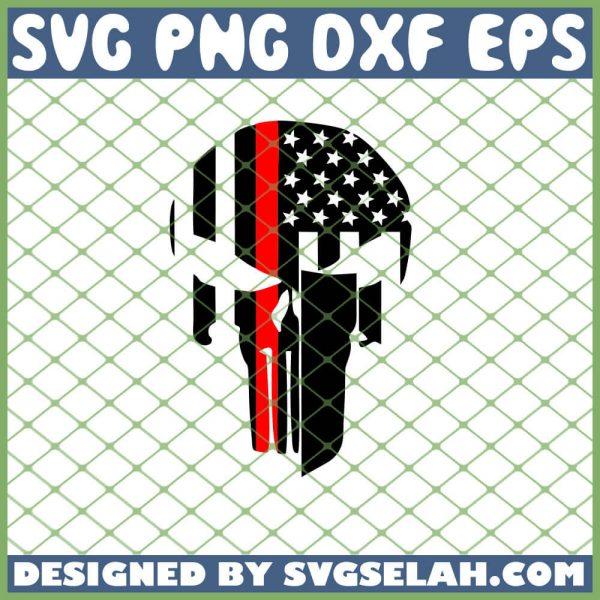 Punisher Red Line SVG PNG DXF EPS 1