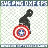 Sipder Man Takes Captian America Shield SVG PNG DXF EPS 1