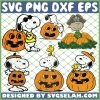 Snoopy Pumpkin Halloween SVG PNG DXF EPS 1