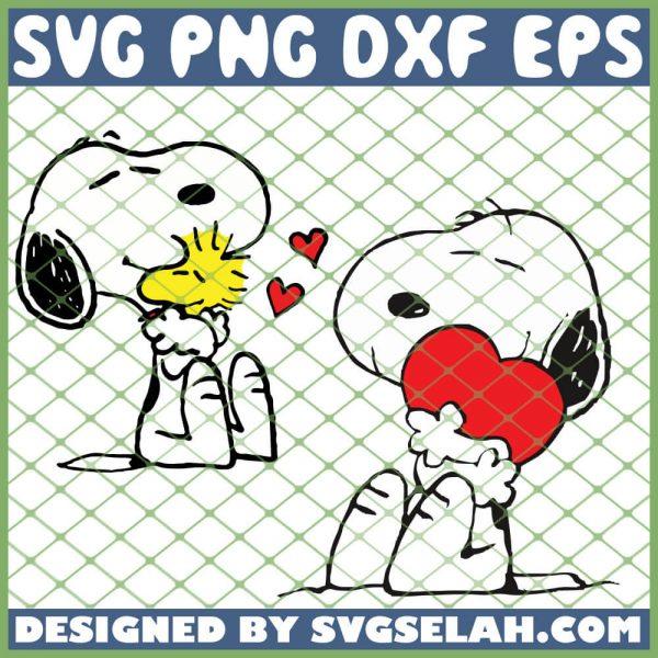 Snoopy Valentine SVG PNG DXF EPS 1