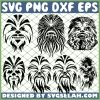 Star Wars Chewbacca Mandala SVG PNG DXF EPS 1