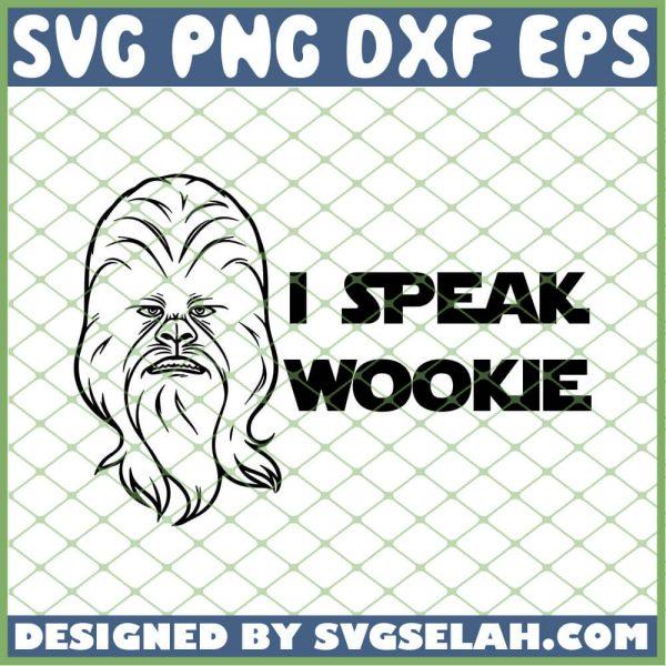 Star Wars I Speak Wookie SVG PNG DXF EPS 1