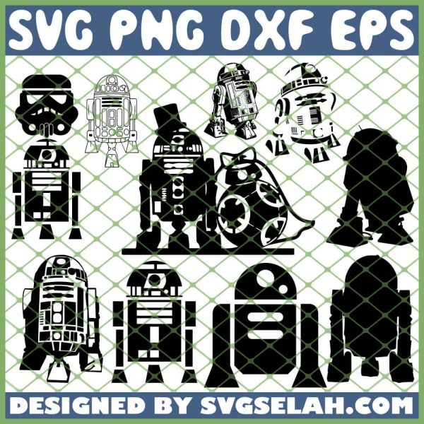 Star Wars R2d2 SVG PNG DXF EPS 1