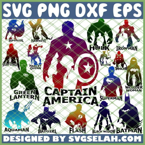 Superhero SVG PNG DXF EPS 1