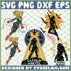 Supper Captain Marvel Girl SVG PNG DXF EPS 1