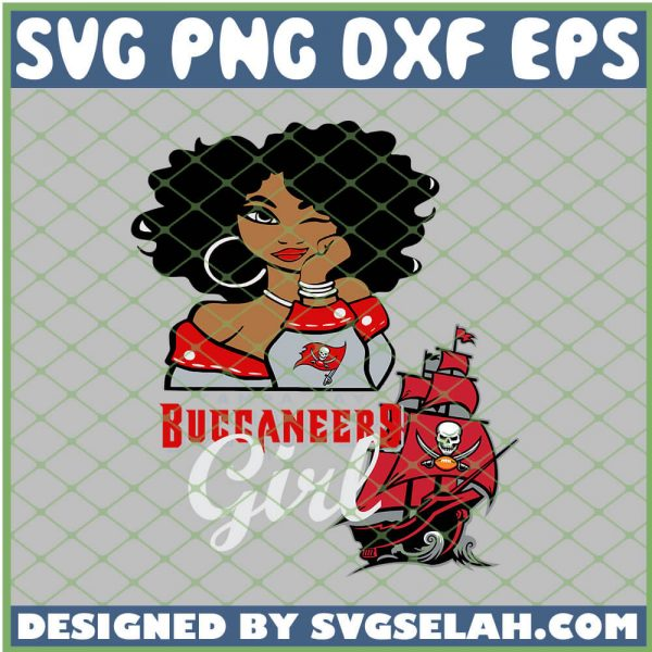 Tampa Bay Buccaneers Girl SVG PNG DXF EPS 1