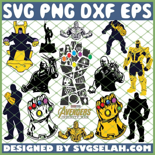 Thanos Avengers SVG PNG DXF EPS 1