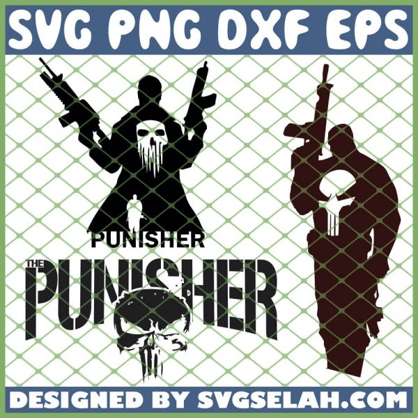 The Punisher SVG PNG DXF EPS 1