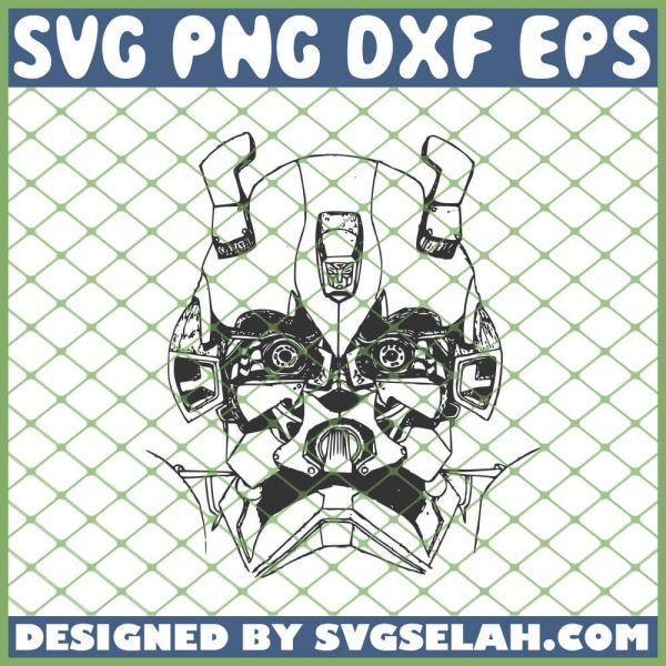 Transformers Bumblebee Head Drawing SVG PNG DXF EPS 1