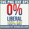 0 Percent Anti Liberal 100 Percent Lgbt Gay Cool Pro Republicans SVG PNG DXF EPS 1