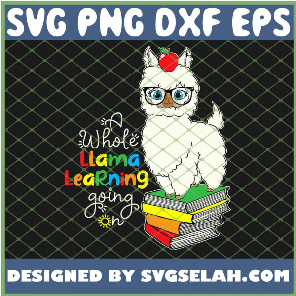 A Whole Llama Learning Going On Teacher School Apple SVG PNG DXF EPS 1