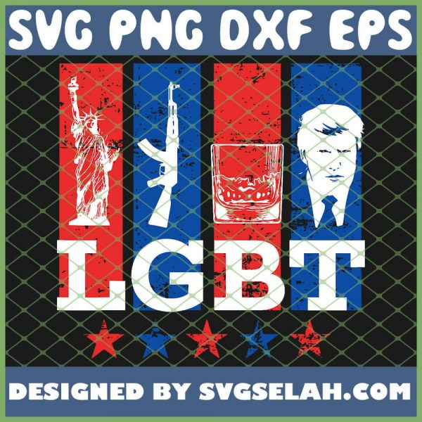 Bourbon Drinking Liberty Guns Bourbon Trump Lgbt SVG PNG DXF EPS 1