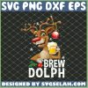 Brew Dolph Funny Reindeer Rudolph Christmas Gifts SVG PNG DXF EPS Cricut 1