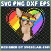 Chihuahua Rainbow Heart Gay Pride Lgbt Dog Lover SVG PNG DXF EPS 1