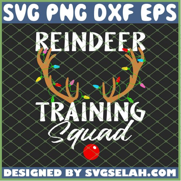 Christmas Running Reindeer Training Squad SVG PNG DXF EPS Cricut 1