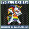 Dabbing Unicorn Gay Pride Lgbt Lesbian Rainbow SVG PNG DXF EPS 1