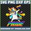 Dabbing Unicorn Lgbt Gay Pride SVG PNG DXF EPS 1