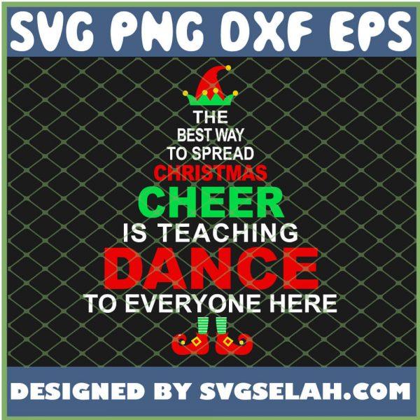 Dance Teacher Christmas Cheer Is Teaching Dane SVG PNG DXF EPS 1
