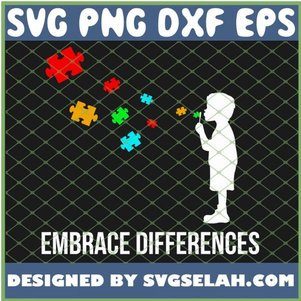 Embrace Differences Support Autism Awareness Day SVG PNG DXF EPS 1