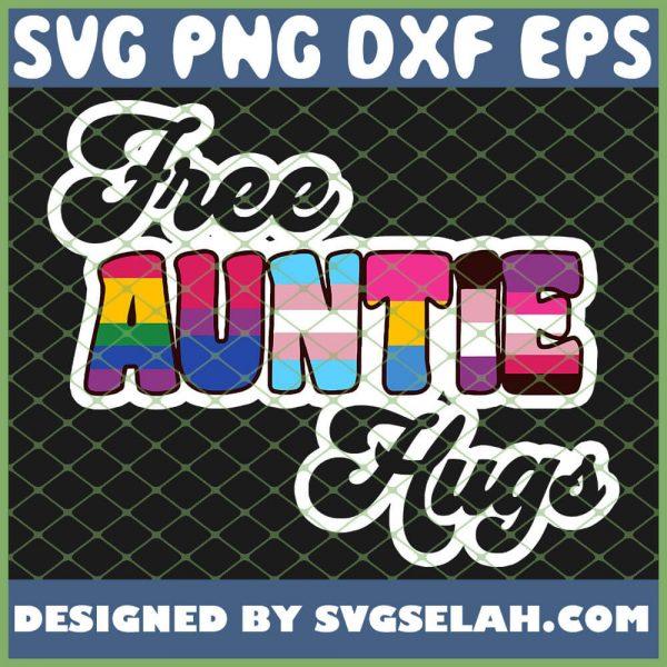 Free Auntie Hugs Lgbt Pride Lgbtq Gay Pride Transgender Bi SVG PNG DXF EPS 1