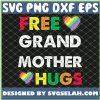 Free Grandmother Hugs Rainbow Pride Lgbt SVG PNG DXF EPS 1