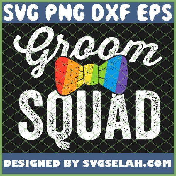 Groom Squad Lgbt Pride Gay Bachelor Wedding SVG PNG DXF EPS 1