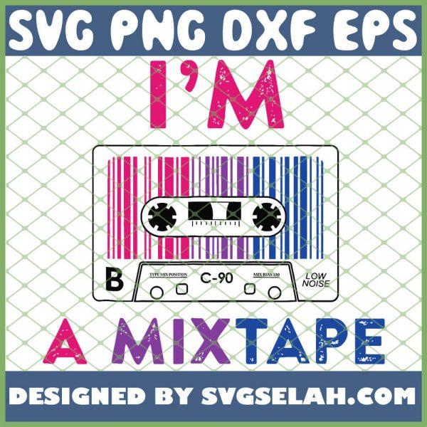IM A Mixtape Bisexual Pride Lgbt Lesbian Gay Flag SVG PNG DXF EPS 1