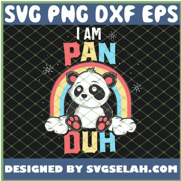 IM Pan Duh Panda Pansexual Pride Rainbow Lgbt SVG PNG DXF EPS 1