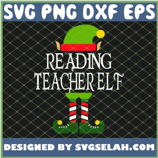 Im The Reading Teacher Elf SVG PNG DXF EPS 1