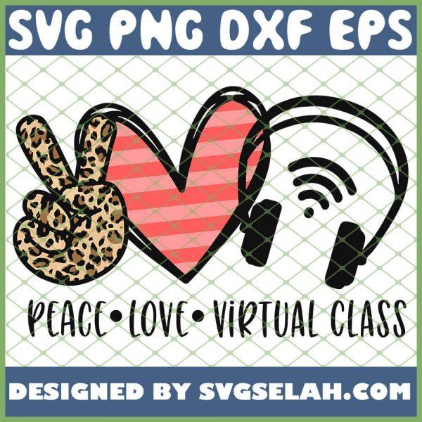 Kids Kindergarten Peace Love Virtual Class SVG PNG DXF EPS 1