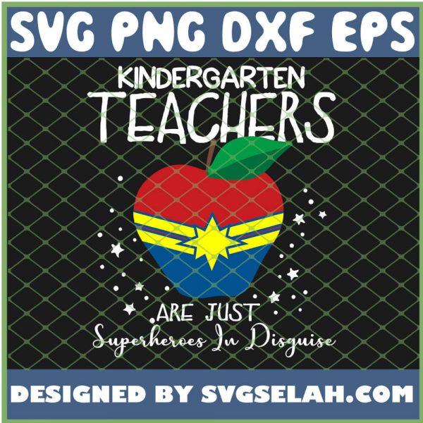 Kindergarten Teachers Are Just Superheroes In Disguise Wonder Woman Logo SVG PNG DXF EPS 1