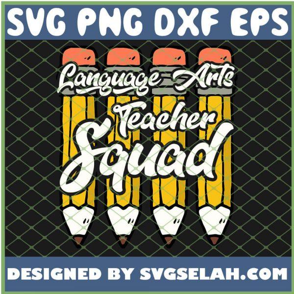Language Arts Teacher Squad Ela Team SVG PNG DXF EPS 1