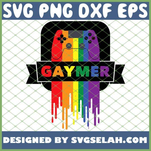 Lgbt Gamer Gaymer Gay Pride Rainbow Gamepad SVG PNG DXF EPS 1