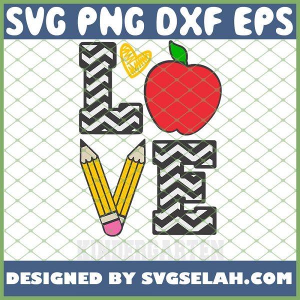 Love Kindergarten SVG PNG DXF EPS 1
