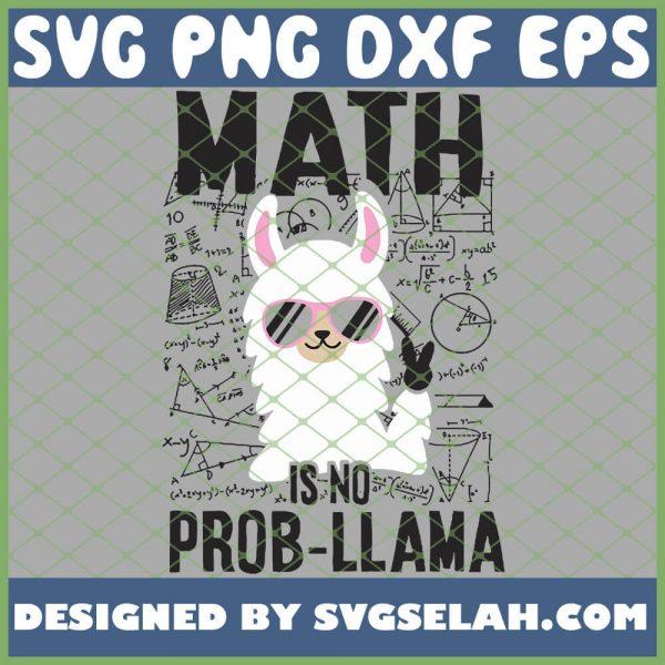 Math Is No Prob Llama SVG PNG DXF EPS 1
