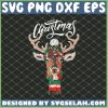 Merry Christmas Deer Wearing A Hat And Scarf SVG PNG DXF EPS Cricut 1