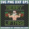 Merry Liftmas Fitness Santa Bodybuilder SVG PNG DXF EPS 1
