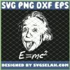Nerdy Einstein Sticking Tongue Out E Mc2 Physics Teacher SVG PNG DXF EPS 1