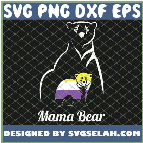 Non Binary Mama Bear Lgbt Trans Pride SVG PNG DXF EPS 1