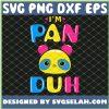 Pansexual Funny Gay Pride Lgbt IM Pan Duh Panda SVG PNG DXF EPS 1