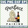 Poodle Dog Wine Perfect Pairing SVG PNG DXF EPS 1