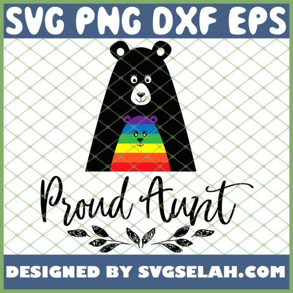 Proud Bear Aunt Gay Pride Lgbt Niece Nephew Love SVG PNG DXF EPS 1