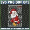 Santa Basketball Dunk Pattern Christmas SVG PNG DXF EPS 1
